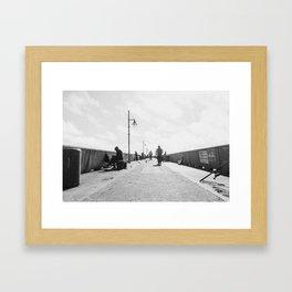 Pier Happenings Framed Art Print
