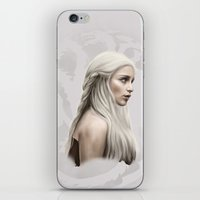 targaryen iPhone & iPod Skins featuring Khalessi by Jason Cumbers