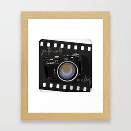 Camera Vintage: see the world in a lens Framed Art Print