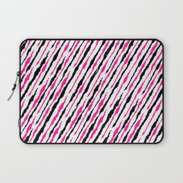 Pink and Black Pattern Laptop Sleeve