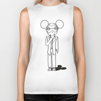 freud Biker Tanks featuring Freud x Mickey by RespectExistence