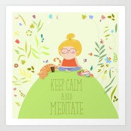 Keep Calm and do yoga Art Print