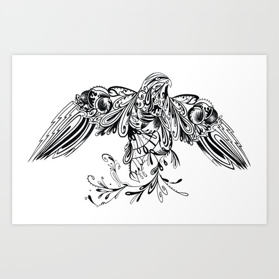 Patterned Peregrine Art Print