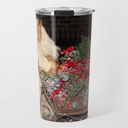 Holiday Tabletop Sleigh Travel Mug