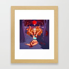 The Golden Race of Gaia Framed Art Print