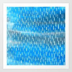 Blue Rain Art Print