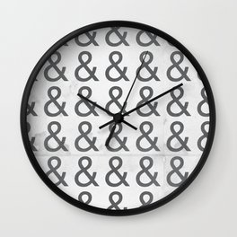 Helvetica Ampersand - Happy National & Day! Wall Clock