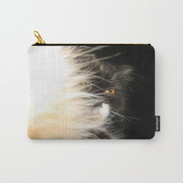 Fluffy Calico Cat Carry-All Pouch
