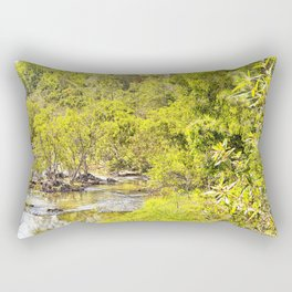 The Edge of the River Rectangular Pillow