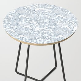 Japanese Wave Side Table