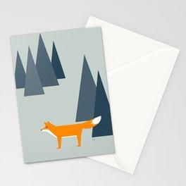 fox, woodland animals, minimal Stationery Cards