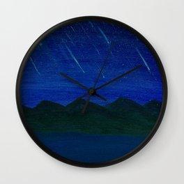 Evening Showers Wall Clock