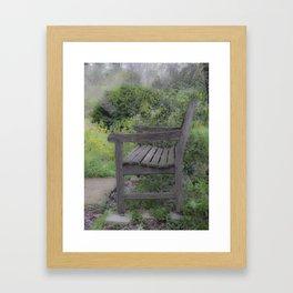 Misty Bench Framed Art Print