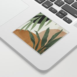 Abstract Art Tropical Leaves 4 Sticker