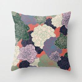 Spring Succulents Throw Pillow