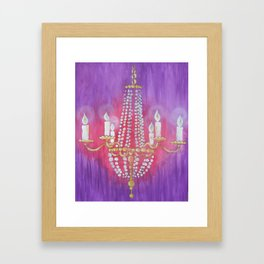 Purple Chandelier Framed Art Print