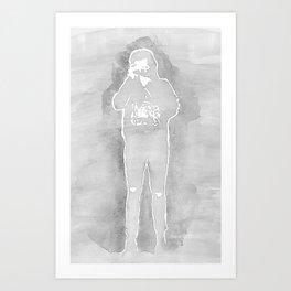 Harry Styles gray Art Print