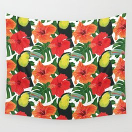 Toucan pattern Wall Tapestry