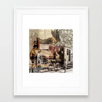 industrial Framed Art Prints featuring Industrial by victorygarlic - Niki