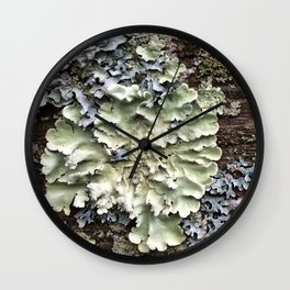 Nature's Fence Flowers Wall Clock