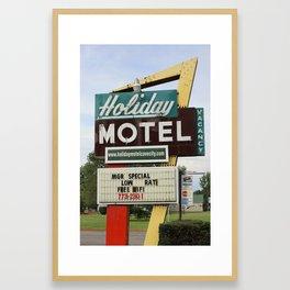 Holiday Motel Framed Art Print