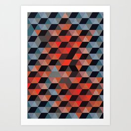 Textured Geometric Art Print