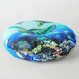 Sea Turtles Dance Floor Pillow