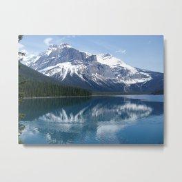 Mountain Across Emerald Lake Metal Print