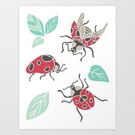 Three little Ladies Art Print