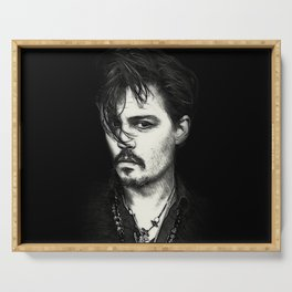 Johnny Depp Serving Tray