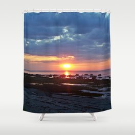 Sunset under Stormy Skies Shower Curtain