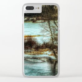 Down By The Waters Edge Clear iPhone Case