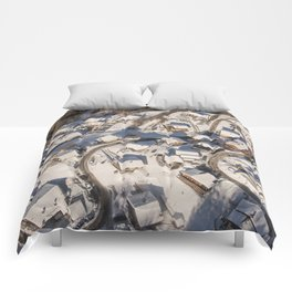 mountain village from the sky Comforters