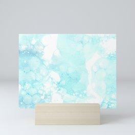 Blue bubble paint Mini Art Print