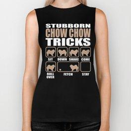 Stubborn Chow Chow Tricks design Biker Tank