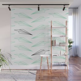 Paper Airplane - You Can Fly - Dense Pattern - Julep Wall Mural
