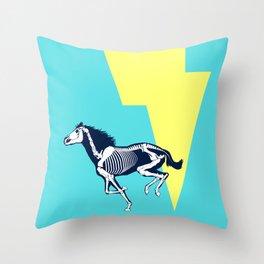 Electro Horse Throw Pillow