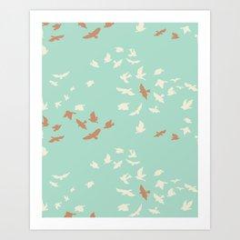 aves chatter Art Print