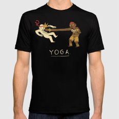 yoga. Black Mens Fitted Tee LARGE