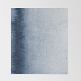 Indigo Vertical Blur Abstract Throw Blanket