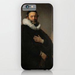 Johannes Wtenbogaert, Rembrandt van Rijn, 1633. Fine art. iPhone Case