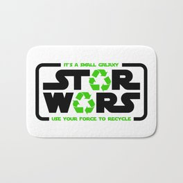 Star - Use your force to recycle - Wars Bath Mat