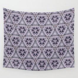 Pale Purple Pyramids Wall Tapestry