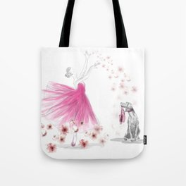 DANCE OF THE CHERRY BLOSSOM Tote Bag