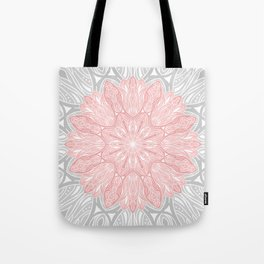 MANDALA IN GREY AND PINK Tote Bag