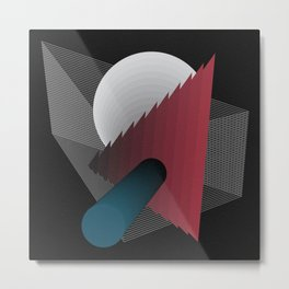 Geometric Abstract 3 Metal Print