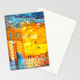 Jerusalem Wailing Wall Original Acrylic Palette Knife Painting Stationery Cards