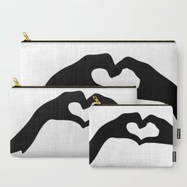 Hearts out of Hands - Silhouette Carry-All Pouch