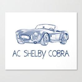 Pen drawing ac shelby cobra Canvas Print