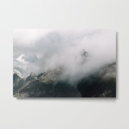 Mountain Range in the Clouds - Landscape Photography Metal Print